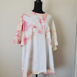 Handmade tie dye tee shirt 3x plus size